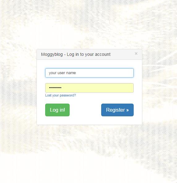 moggyblog login form