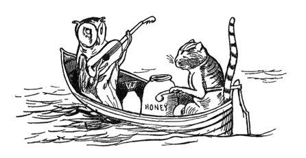 Owl and Pussycat Illustration
